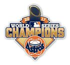 Houston Astros World Series Champions 2017 Decal / Sticker Die cut on Ebay