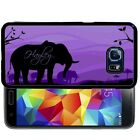 PERSONALIZED RUBBER CASE FOR SAMSUNG S8 S7 S6 S5 EDGE PLUS PURPLE ELEPHANT