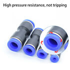 5Pcs Pneumatic Straight hose tube inline  push fit connector air line 4 -16mm US