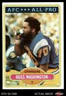 1980 Topps #305 Russ Washington - All-Pro Chargers NM/MT $0.99 USD on eBay