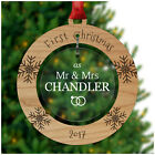 PERSONALISED Couples First Christmas Xmas Tree Decoration Mr Mrs Ornaments Gifts