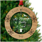 First Christmas PERSONALISED Mummy Daddy Tree Decorations Bauble Xmas Gifts Baby