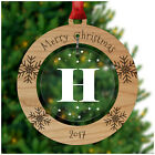 PERSONALISED Chistmas Tree Decorations Gifts ANY INITIALS Xmas Bauble Presents