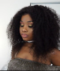 "8""-22"" Afro Wig Kinky Curly 100% Brazilian Remy Human Hair Full/FrontLace Wig"
