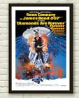 Vintage James Bond Diamonds Are Forever Movie Film Poster Print Picture A3 A4 £7.9 GBP
