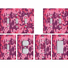 Camouflage Camo Digital Pixelated Pink - Light Switch Covers Home Decor Outlet