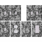 Camouflage Camo Digital Pixelated Grey - Light Switch Covers Home Decor Outlet