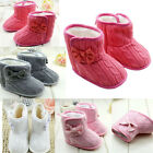 Children Baby Girls Winter Keep Warm Soft Knitting Snow Boots Shoes