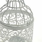 White Hollow Candle Holder Tealight Candlestick Metal Bird Cage indoors outdoors
