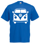 TOP! Herren T-Shirt VW BUS CAMPER LOGO FRONTAL Advent Geschenk S-XXXL