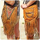 Gorgeous Hand Painted Native American Leather Shoulder Bag -Limited Availability