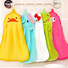 Cute Coral Velvet Towel Kitchen Bath Hanging Cleaning Soft Wipe Wash Cloth 1pc