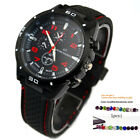 Mens Vogue Classic Silicone Stainless Steel Sports Analog Quartz Watch + Gift
