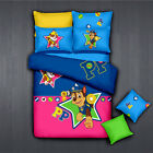 *** Paw Patrol Rubble&Chase Queen Bed Quilt Cover Set - Flat or Fitted Sheet ***