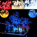 Solar Powered 100 200 LEDs Tree Light Outdoor Wedding Party Xmas Lamp string