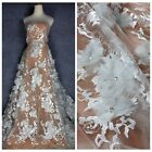 New off white Polyester lace fabric 51'' width SN171106