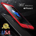 iPhone 8 /8 Plus 360 Full body Coverage case & Tempered Glass Screen Protector