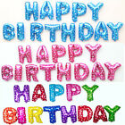 """Happy Birthday 16"""" Full Set Of Foil Letters Alphabet Balloon Kids Party Baby GB"""