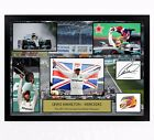 LEWIS HAMILTON SIGNED PRINT PHOTO POSTER SQUAD 2017 2018 FRAMED F1 FORMULA ONE 1
