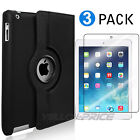 Black iPad 9.7 inch 2017 / iPad Air Case, 360 Degree Rotating Stand Smart Cover