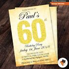 Personalised birthday party invitation with free env & proof 50th 60th 70th 80