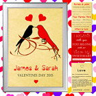 PERSONALISED LOVE PRINT VALENTINE'S DAY GIFT SET PERFECT FOR HUSBAND OR WIFE