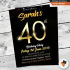 Unisex custom quality birthday party invitation with envs 18th 21st 30th 40th