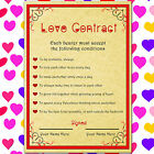 CUSTOMISABLE VALENTINES DAY LOVE CONTRACT GIFT SET TO SAY I LOVE YOU TO  HER