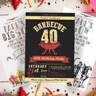 BBQ Barbecue Birthday Party Invites with Envelopes 18th 21st 30th 40th 50th
