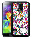 PERSONALIZED RUBBER CASE FOR SAMSUNG NOTE 8 5 4 3 WILDLY COLORFUL BUTTERFLIES