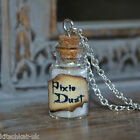 Cute small snow white Pixie Dust Potion Bottle Necklace - Peter Pan Tinkerbell