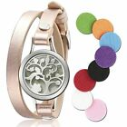 Essential Diffusers Oil Bracelet Aromatherapy Stainless Steel Locket Leather Of