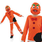 Kids Gingerbread Man Costume Childs Kids Boys Girls Book Week Outfit 10-12 Yrs