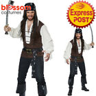 CA487 Mens High Seas Adventurer Captain Pirate Buccaneer Jack Sparrow Costume