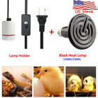 Ceramic Heat Emitter Brooder Infrared Lamp Bulb + Holder For Reptile Pet Brooder