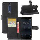 Luxury Flip Leather Magnetic Wallet Card Slots Case Skin Cover For Nokia 3 5 6 8