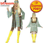 CA492 Ladies 60s Hippie Chick Costume Hippy Peace 70s Groovy Fancy Dress Outfit