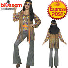 CA493 Ladies Hippie Singer 1960s Costume Hippy 70s Groovy Retro Groovy Outfit