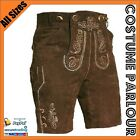 Mens Authentic German Leather Lederhosen Oktoberfest Costume All Sizes  F