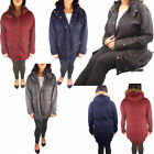 Ladies Hooded Fur Trim Winter Womens Trench Fishtail Parka Plus Size Coat Jacket
