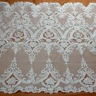 """Off white polyster embroidery wedding dress lace fabric 51"""" width"""
