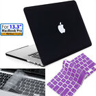 [2 In 1]black Case+keyboard(clear&purple) 13/13.3inch Macbook Pro W/retina A1425