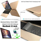 "3-IN-1 Ultra Slim Gold Matte Hard Case Keybord NEWEST Macbook 12""-2015 Release"