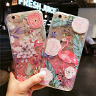 Shockproof Flamingo Dynamic Liquid Glitter Case Cover For iPhone X 8 7 6S 6 Plus