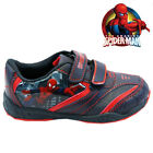 NEW BOYS INFANT SPIDERMAN BLACK SCHOOL BOOTS TRAINERS VELCRO KIDS SHOES SIZE