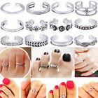 925 Sterling Silver Adjustable Toe Rings Small Finger Ring Women Band Fashion UK
