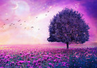 STUNNING PURPLE ABSTRACT TREE LANDSCAPE POSTER