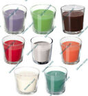 3 x SCENTED CANDLES IN GLASS POT FRAGRANCE HOME CANDLE Tea Lights Wedding 25Hrs