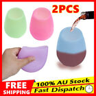2pcs Unbreakable Portable Silicone Wine Glasses Colorful Outdoor Cup Glass