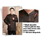 Traditional Chinese Mens Jacquard Kung fu Jacket Top Suit Pockets Christmas Gift